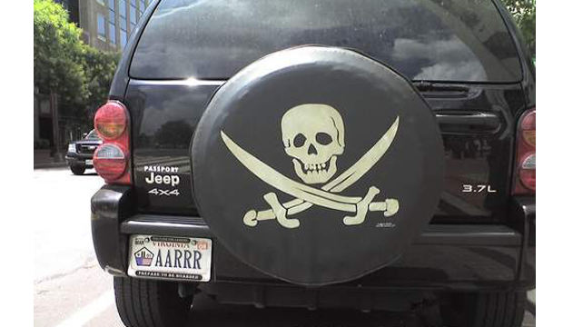 Pirate Number Plate