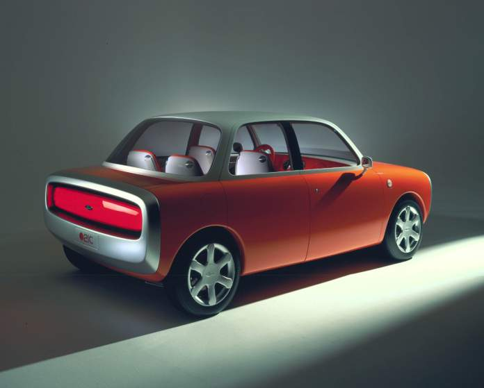 Concept car: The 1999 brainchild of Apple's new star designer Marc Newson.