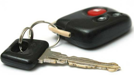 car remote and key