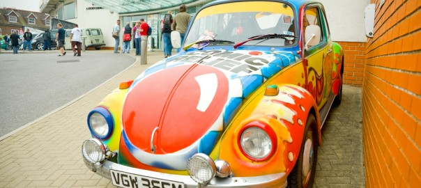 Funky colours on VW Beetle