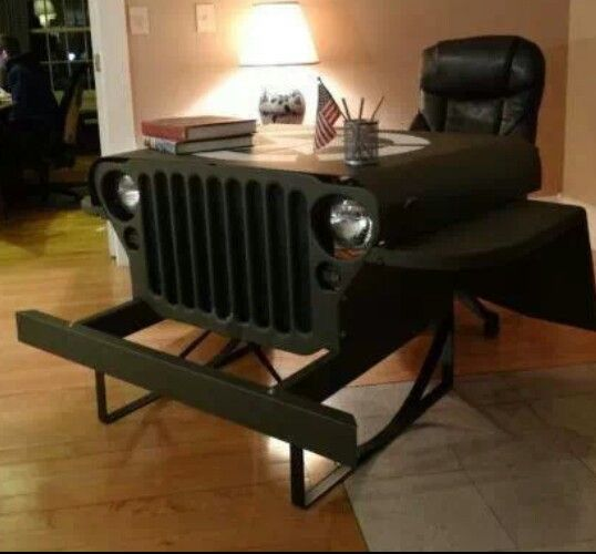 Upcycled Car Office Desk