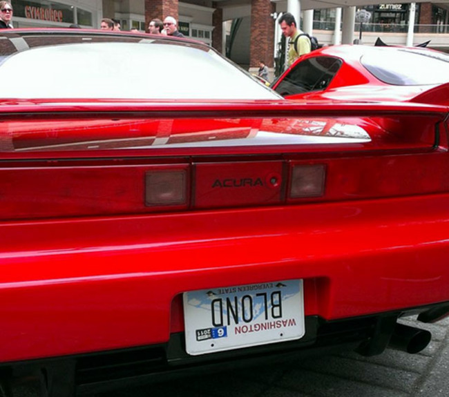 Blond Number Plate