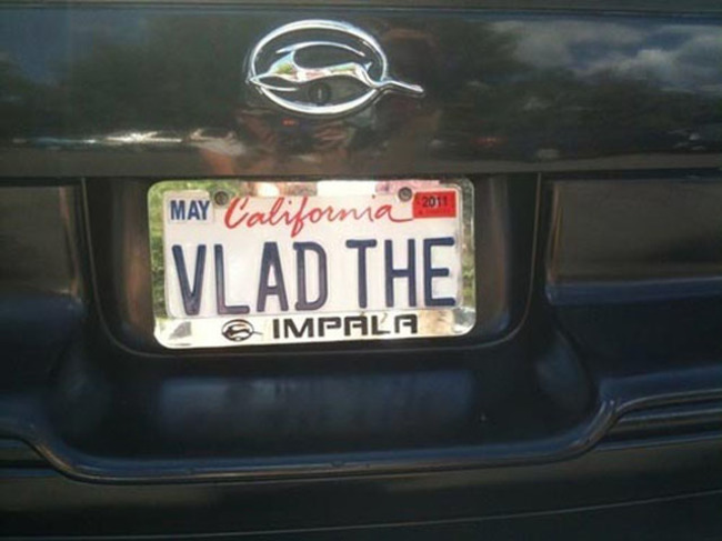 Vlad The Impala Number Plate