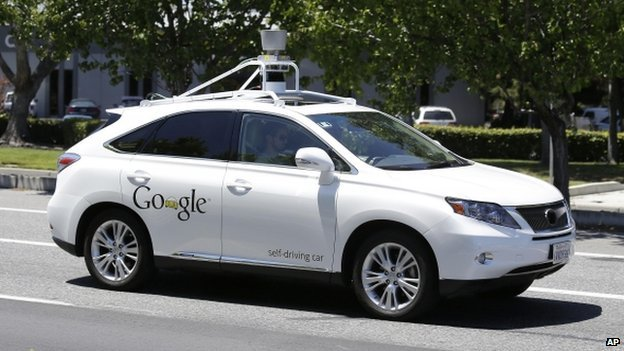 Pretty picture: The Updated Google car.
