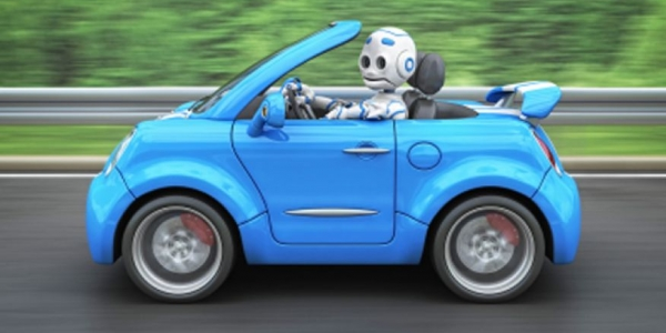 Robot driving car
