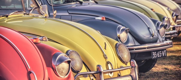 Old VW Beetles