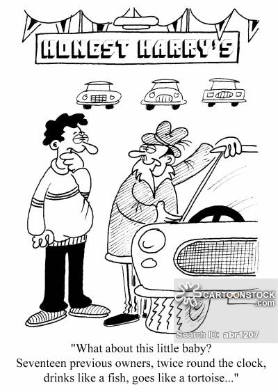 Car dealer cartoon