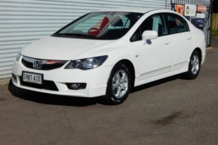 sell my car – honda civic white