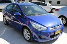 sell my car – hyundai accent blue