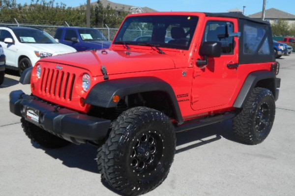 sell my car - jeep wrangler red