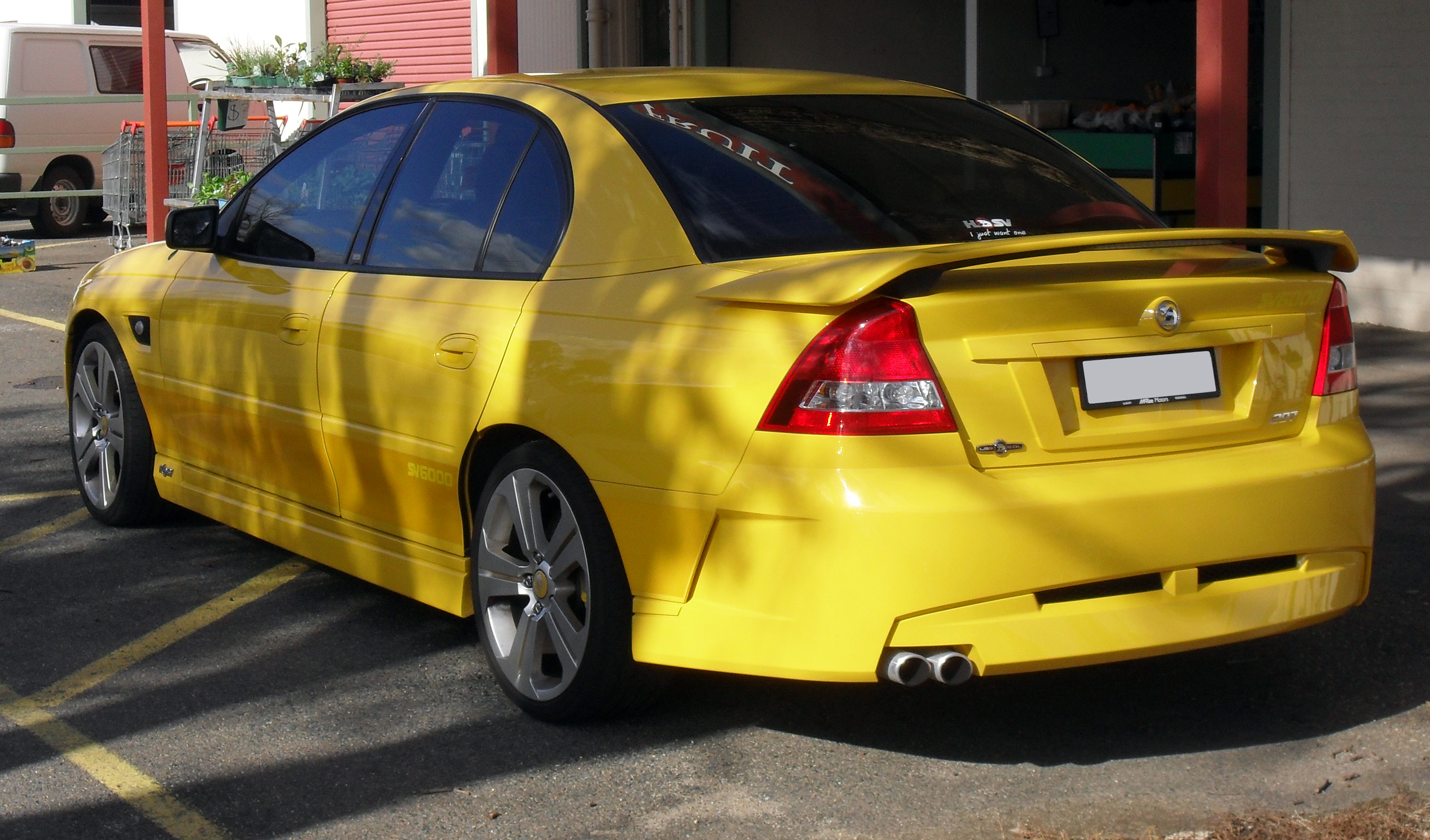 sell my car – holden sv6 yellow
