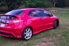 sell my car – honda civic red