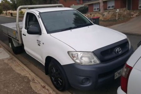 sell my car – toyota hilux white