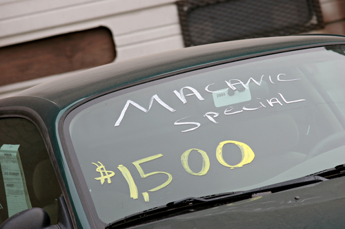 used car advertised as macanic special. only $1500, what a bargain.