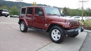 Sell My 2007 Jeep Wrangler Rubicon Unlimited Burgandy